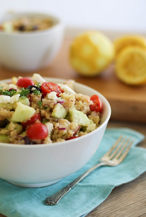 Greek Quinoa Salad | http;//www.theroastedroot.net