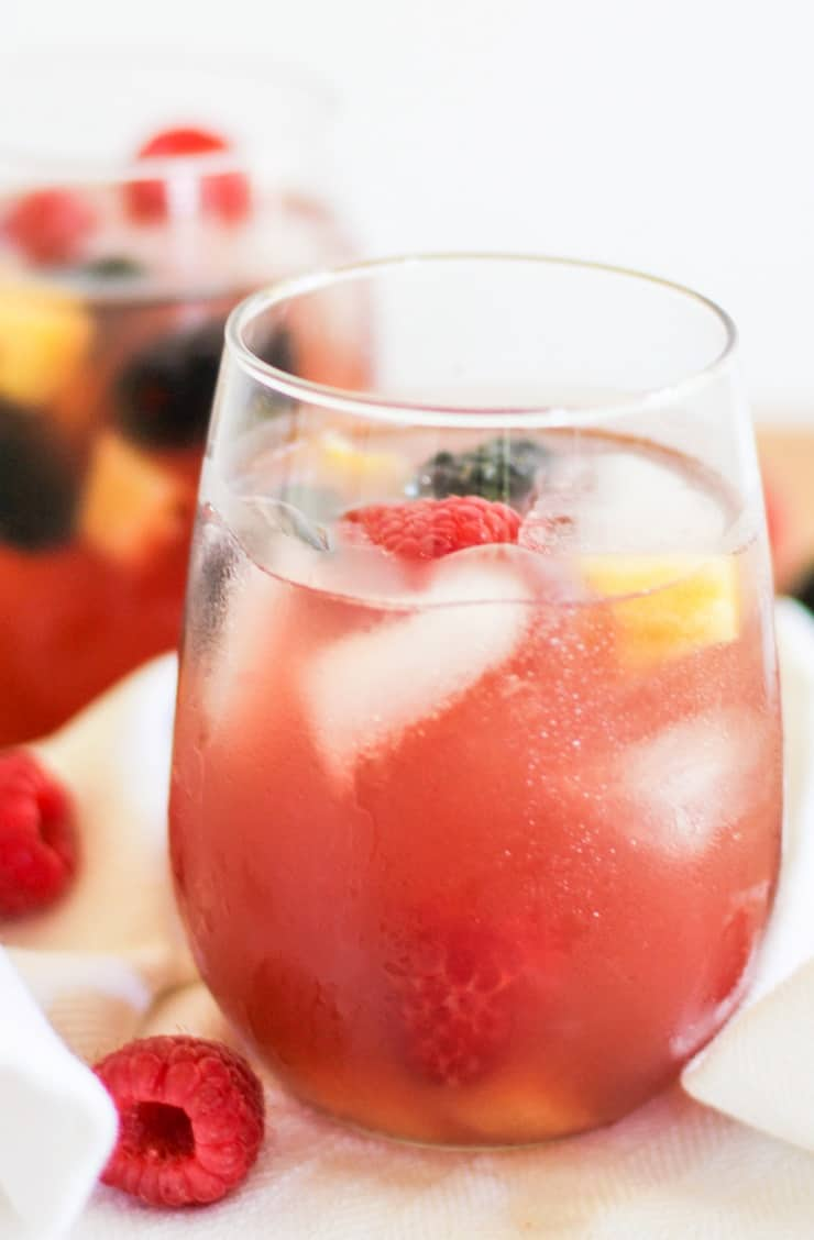 Pineapple Rosé Sangria - a naturally sweetened big batch cocktail recipe - skinny sangria!