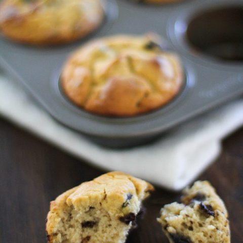 Gluten Free Blueberry Chocolate Chunk Muffins | https://www.theroastedroot.net