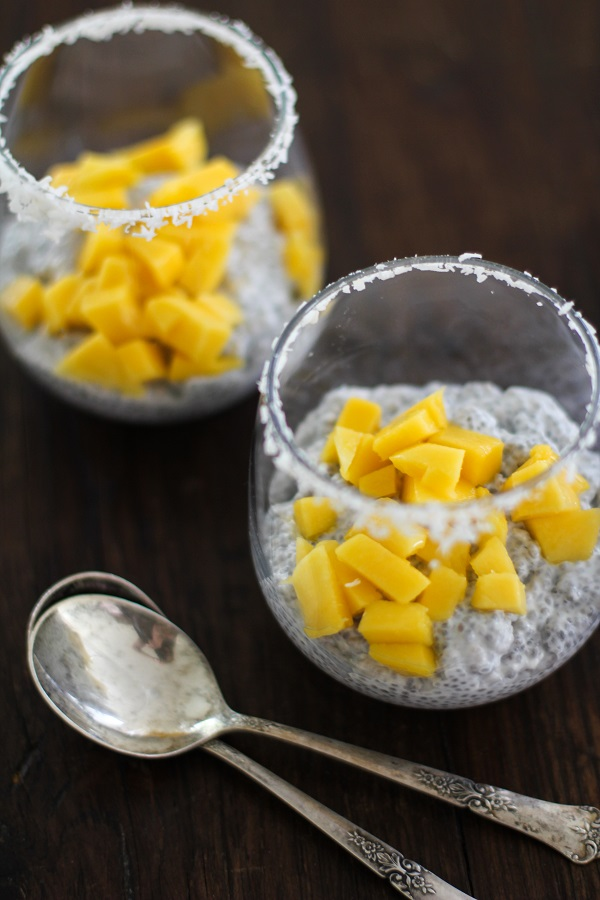 Coconut Chia Seed Pudding with Mango - dairy-free, sugar-free, gluten-free and paleo friendly! | https://www.theroastedroot.net