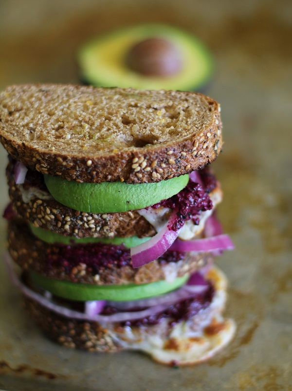Avocado Beet Pesto Sandwich - - - > http://www.theroastedroot.net