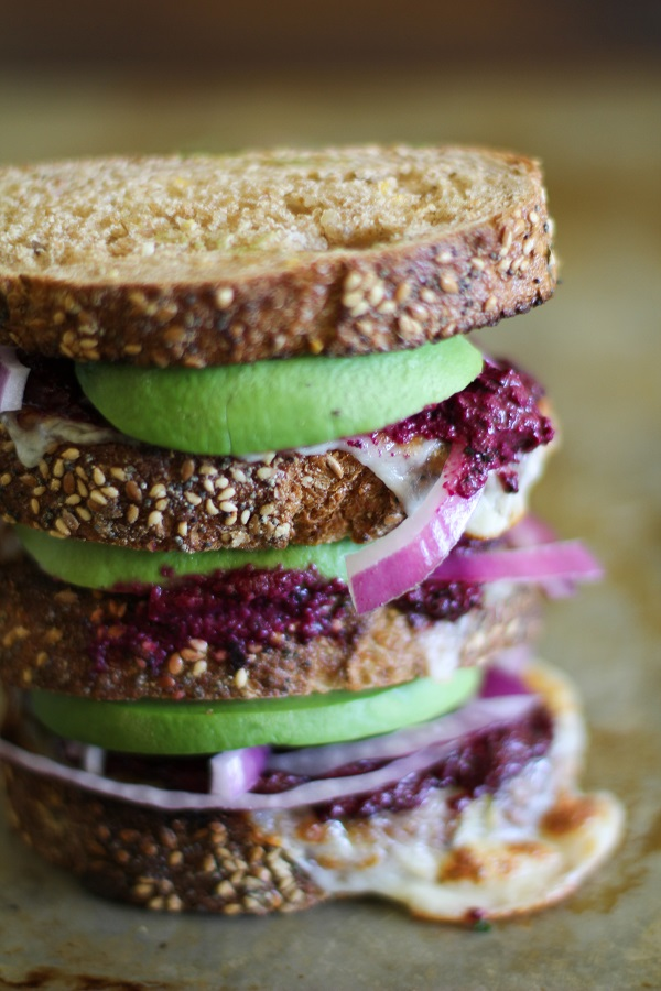 Avocado Beet Pesto Sandwich - - -> http://www.theroastedroot.net