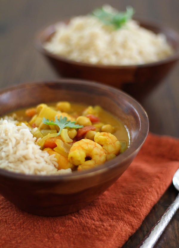 Coconut Shrimp and Chickpea Curry + Prevention RD Cookbook Giveaway!