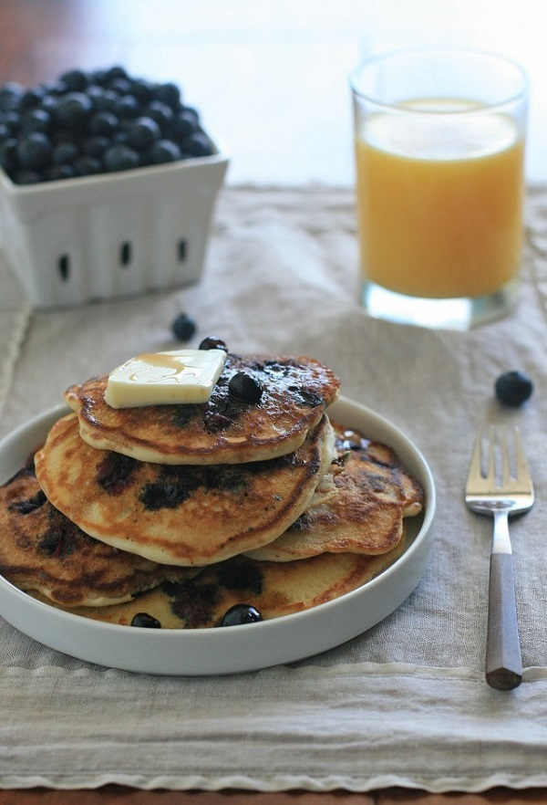 Girl Cooks World - Gluten Free Blueberry Buttermilk Pancakes