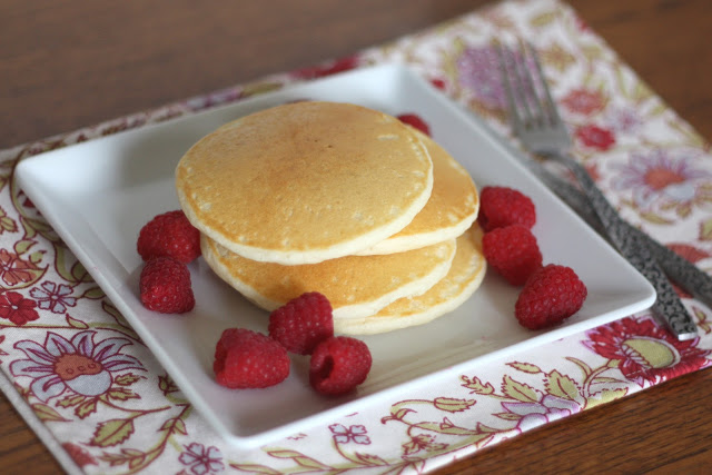 Light and Fluffy Gluten Free Pancakes by Barefeet in the Kitchen