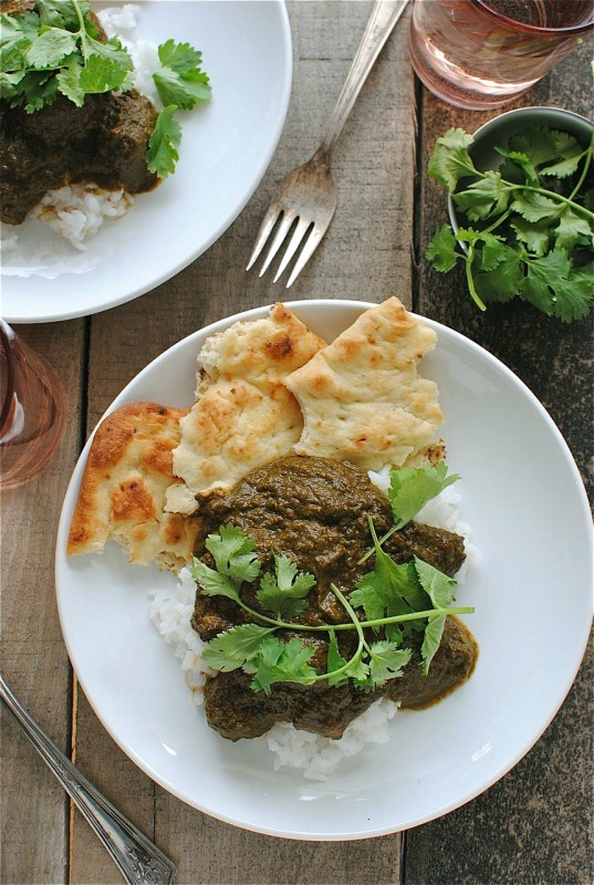 Slow Cooker Beef Saag from Bev Cooks