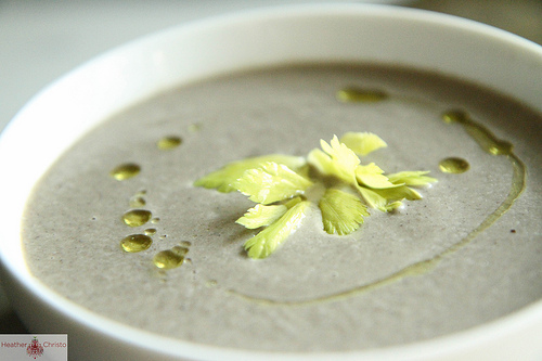 Creamy Mushroom Soup from Heather Christo
