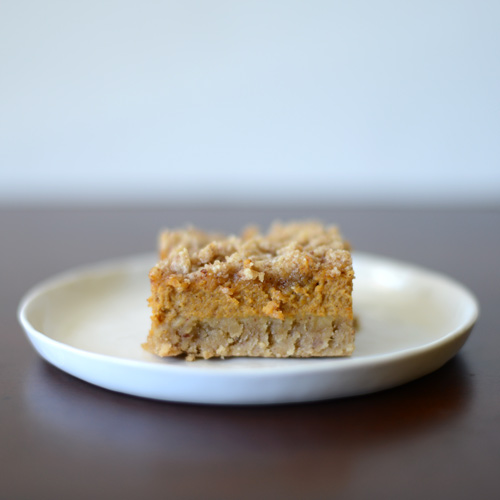 Gluten Free Pumpkin Bars with Crumble Topping from Fit Foodie Finds