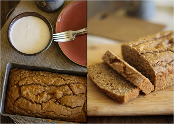 Gluten Free Pumpkin Bread with Chai Frosting - - - > http://www.theroastedroot.net