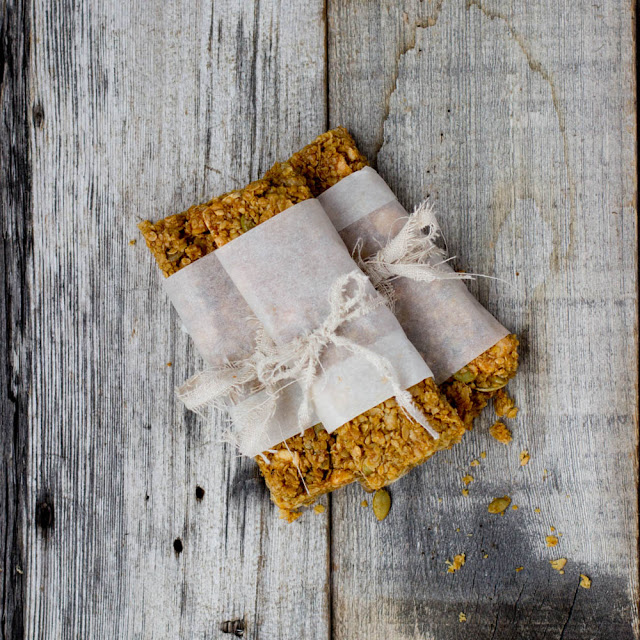 Pumpkin Spice Granola Bars from Oh Sweet Basil