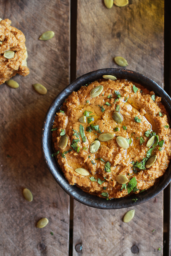 Roasted Pumpkin Seed Hummus from Halfbaked Harvest