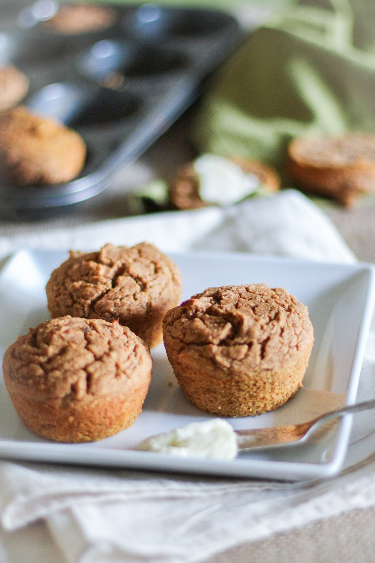 Gluten-Free Sweet Potato Muffins made with coconut flour and rice flour - naturally sweetened and healthy | TheRoastedRoot.net #glutenfree #muffins #recipe #breakfast