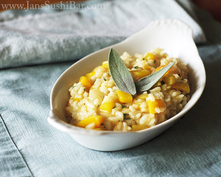 Butternut Squash and Sage Risotto from Jan's Sushi Bar