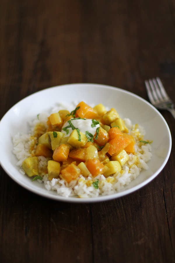 Butternut Squash and Yam Curry  | www.theroastedroot.net
