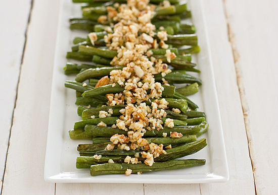 Green Beans with Lemon-Almond Pesto from Oh My Veggies