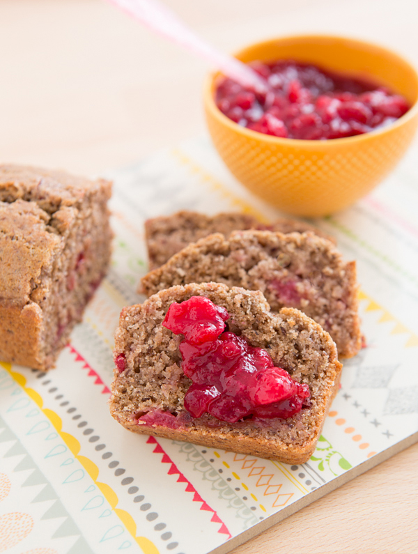 Leftover Cranberry Sauce Bread from Oh My Veggies + 50 Thanksgiving Leftovers Recipes