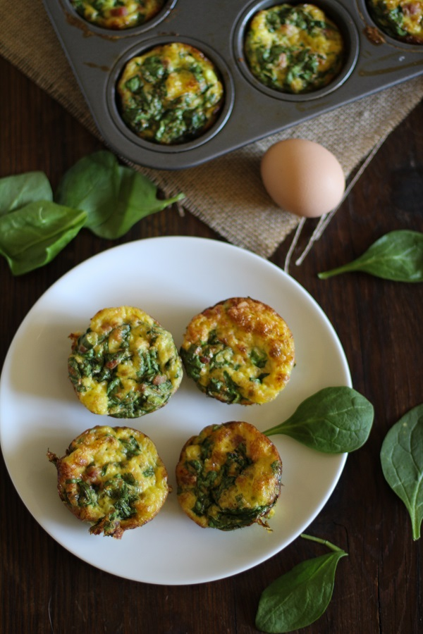 Parma Ham and Spinach Mini Frittatas
