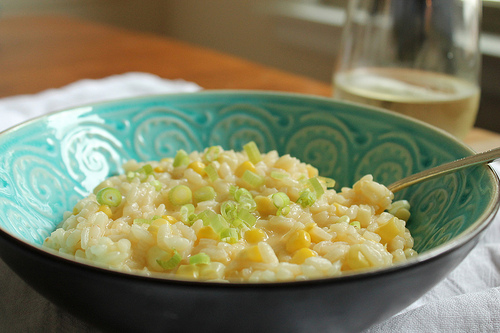 Sweet Corn Risotto from Eat Your Heart Out