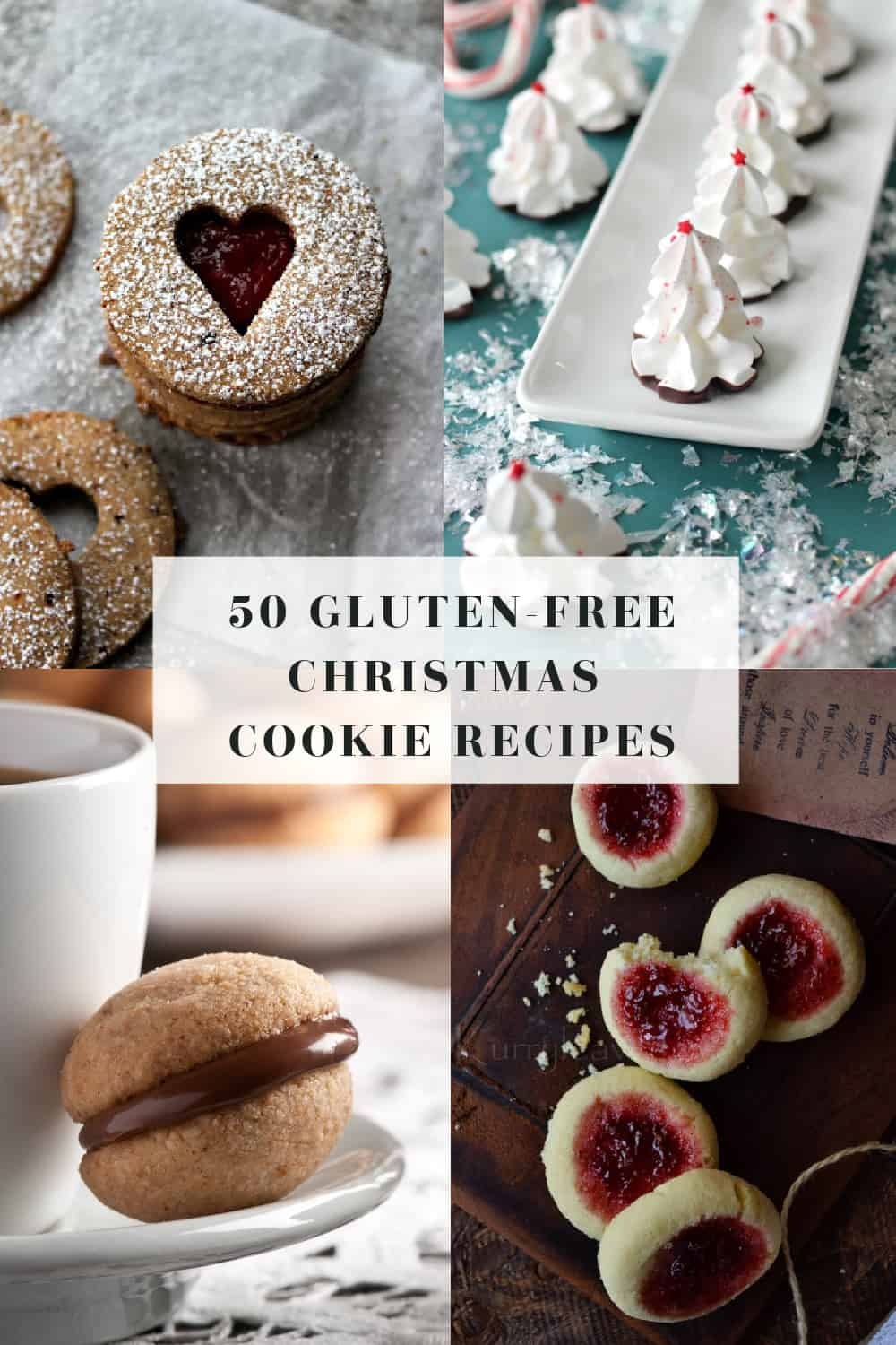 50 Gluten-Free Christmas Cookie Recipes - holiday cookie recipes that are gluten-free! Many dairy-free, paleo, and refined sugar-free options