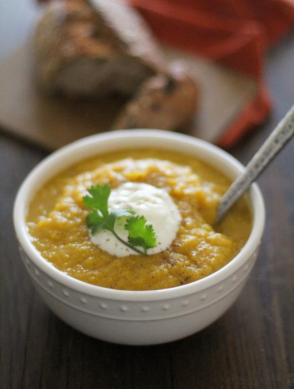 Crock pot Butternut Squash & Parsnip Soup | www.theroastedroot.net