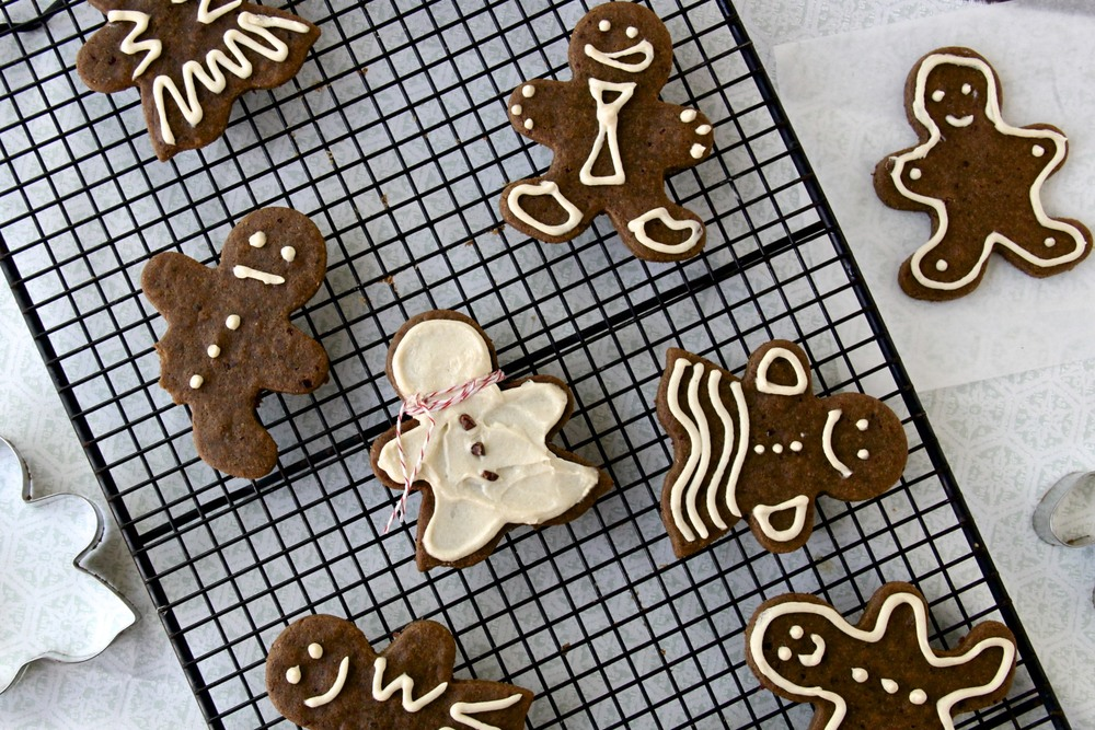 Cranberry Ginger Cookies with Maple Icing from Bare Root + 50 Gluten-Free Christmas Cookie Recipes | www.theroastedroot.net #glutenfree