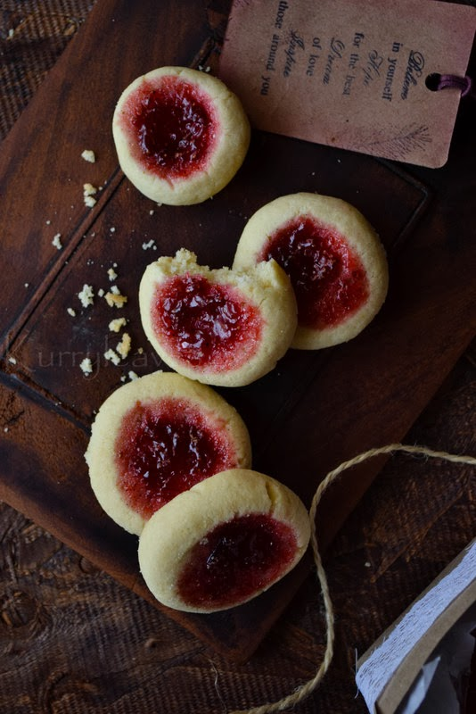 Gluten-Free Jam Cookies (Thumbprints) from Kurry Leaves + 50 Gluten-Free Cookie Recipes | www.theroastedroot.net #glutenfree