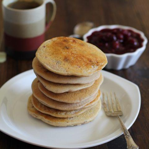 Cranberry Sauce Pancakes (gluten free)