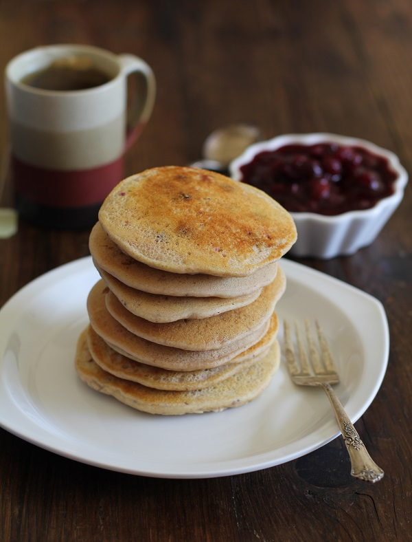 Leftover Cranberry Sauce Pancakes2