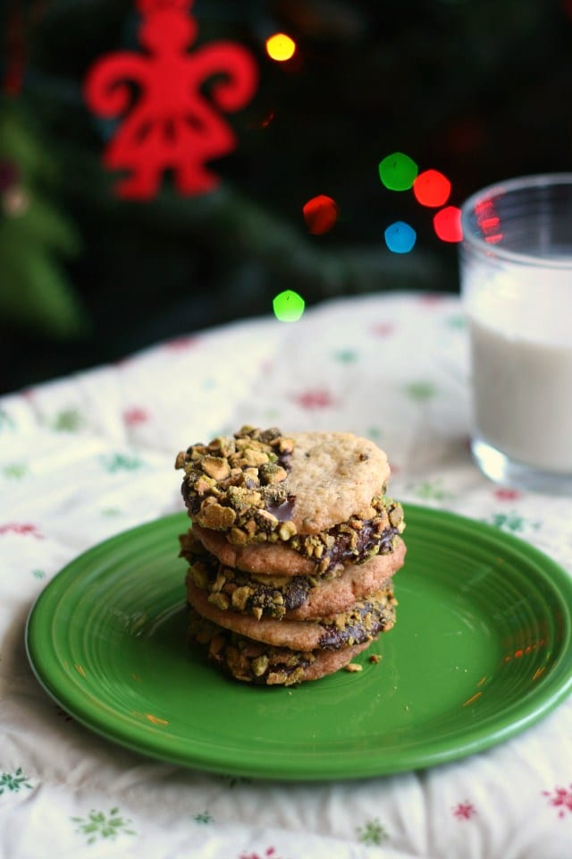 Chocolate-Dipped Gluten-Free Butter Cookies with Pistachios + 50 Gluten-Free Christmas Cookie Recipes