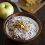 Apple Cinnamon Raisin Crock Pot Steel Cut Oatmeal | www.theroastedroot.net