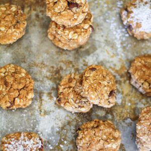 Gluten-Free Sweet Potato Breakfast Cookies made with coconut flour and rolled oats. Naturally sweetened and healthy for breakfast or snack!
