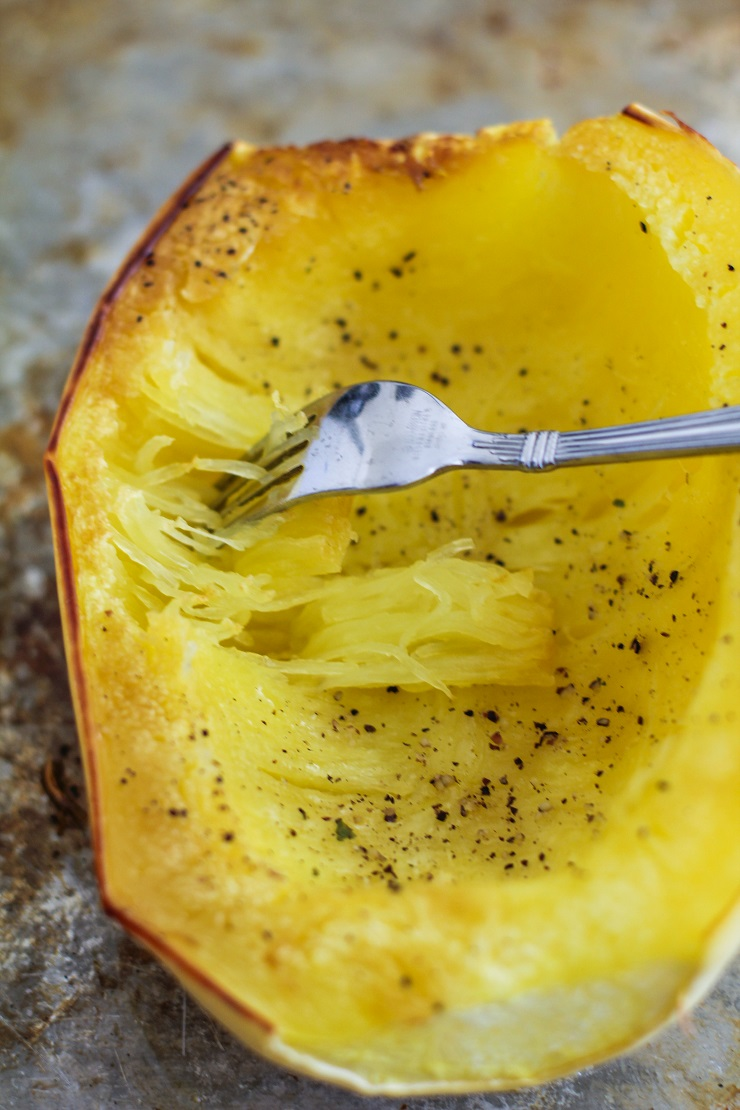 How to Roast Spaghetti Squash - a tutorial with pictures | TheRoastedRoot.net #healthy #recipe #howto