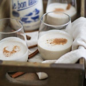 Vegan Eggnog - made with cashews and pure maple syrup, this paleo vegan eggnog is festive and delicious, yet healthier than the classic