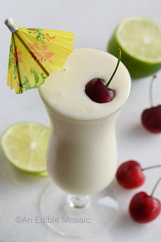 Pina Colada Smoothie from An Edible Mosaic