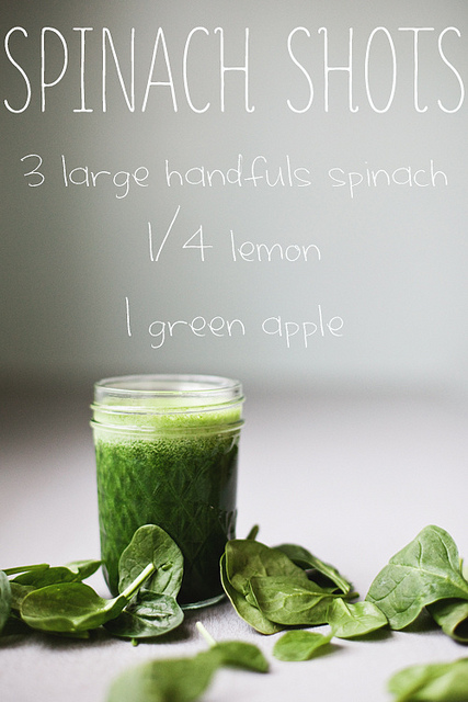 Spinach Shots from in the Little Red House