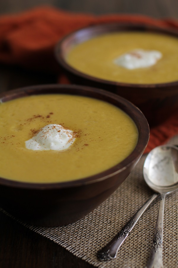Roasted Acorn Squash Soup | www.theroastedroot.net