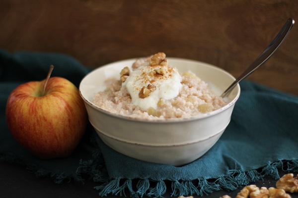 Apple Cinnamon Brown Rice Farina | www.theroastedroot.net