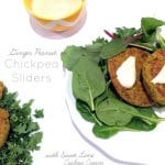 Ginger Peanut Chickpea Sliders with Sweet Lime Cashew Cream (guest post by Hummusapien) | www.theroastedroot.net