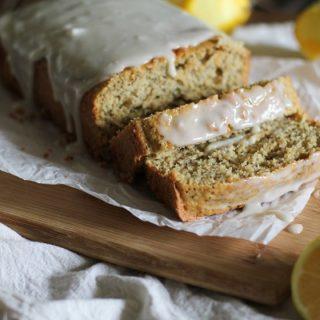 Gluten Free Lemon Poppy Seed Bread with Honey-Lemon Glaze
