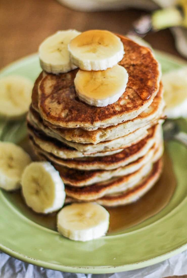 Silver Dollar Vegan Banana Pancakes