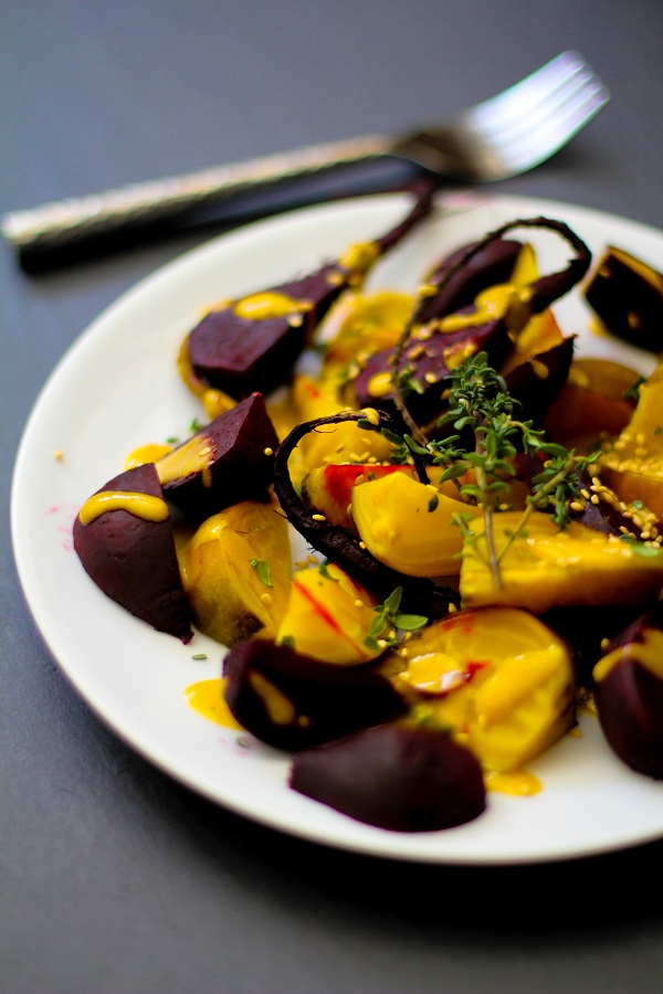 Roasted Beets with Orange-Tahini Dressing