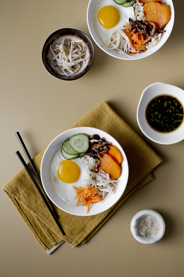 Bibimbap with Sweet Potatoes