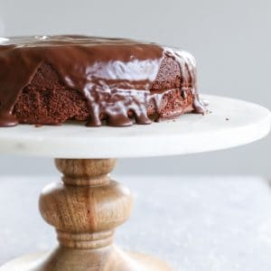 Gluten-Free Chocolate Cake made with almond flour - dairy-free, refined sugar-free, and paleo