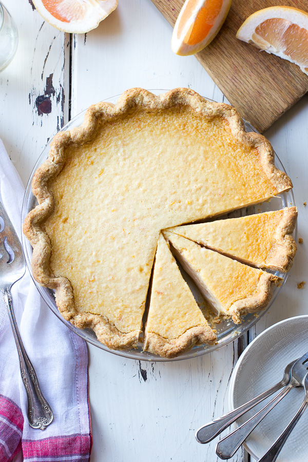 Grapefruit Custard Pie (gluten-free)
