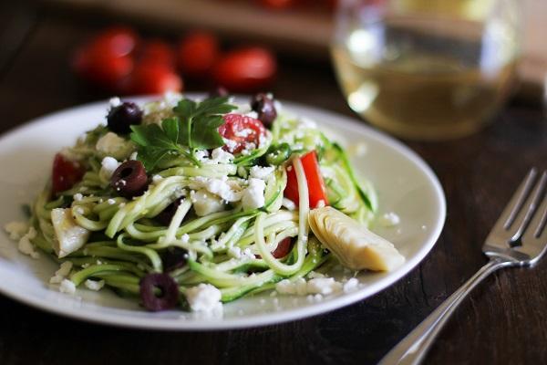 Mediterranean Zucchini Noodle Pasta