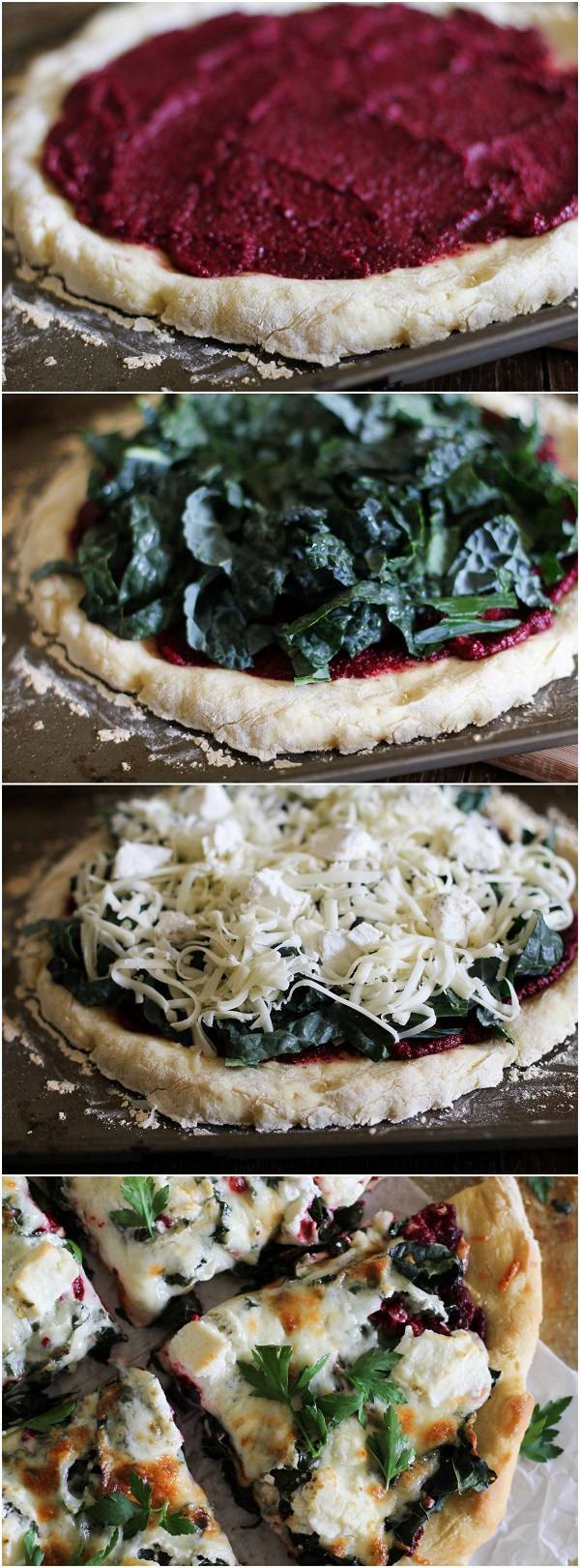 How to make Beet Pesto Pizza with Kale and Goat Cheese