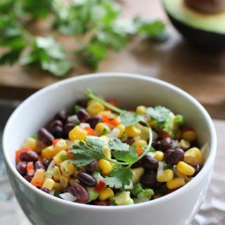 Southwest Black Bean, Corn, and Avocado Salsa