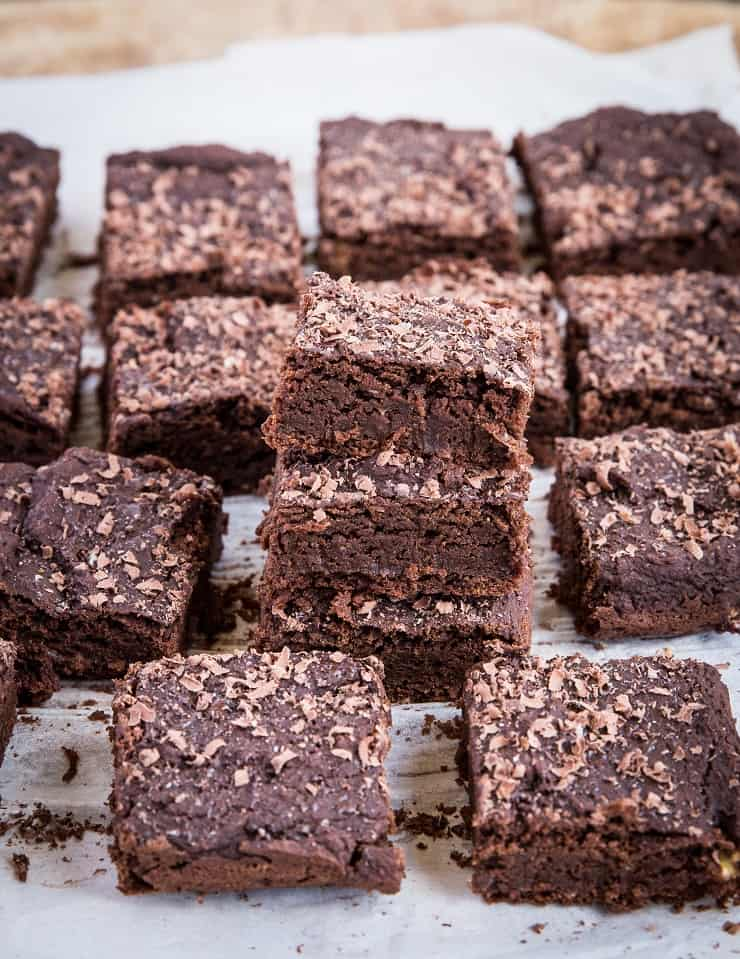 Chickpea Brownies - gluten-free, refined sugar-free, dairy-free brownies made with garbanzo beans!