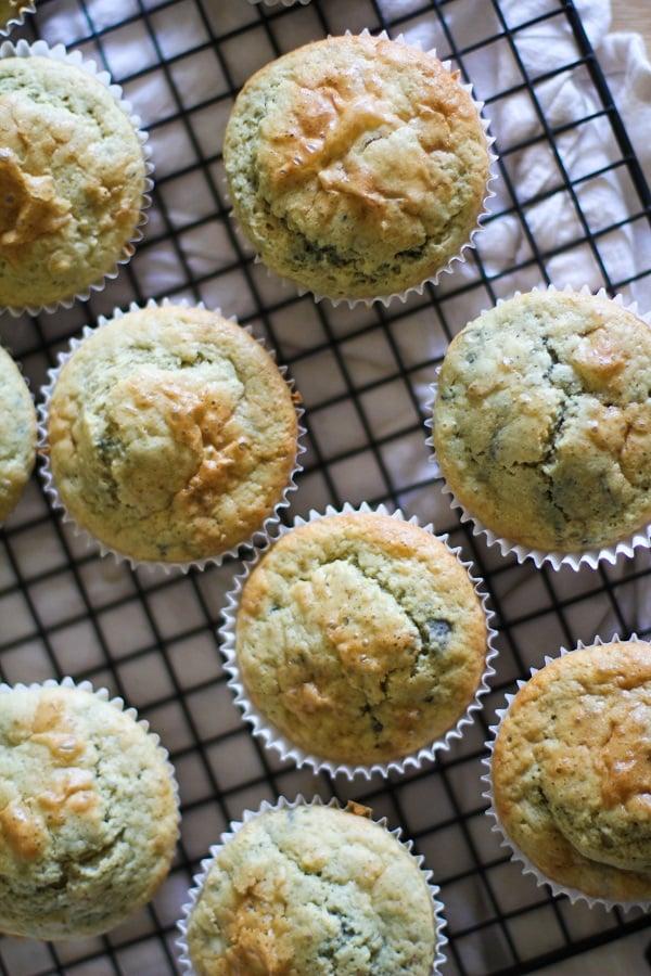 Gluten Free Blueberry Rhubarb Muffins