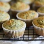 Gluten Free Rhubarb Blueberry Muffins